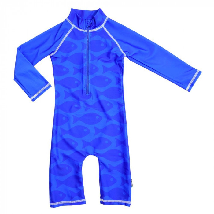 Costum de baie Fish Blue marime 86-92 protectie UV Swimpy for Your BabyKids