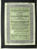 Titlu De Stat Obligatiune Germania 1940-100-Reichsmark