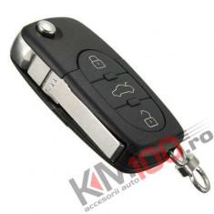Carcasa cheie briceag Audi, 3 butoane