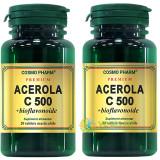 Pachet 1+1-50% Acerola C 500mg + bioflavonoide 20+20cps masticabile Premium
