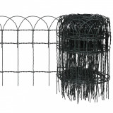 vidaXL Gard delimitare grădină fier vopsit electrostatic 10 x 0,4 m