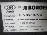 Tapiterie mascare Hayon deschidere Audi A6 2005-2010 cod 4F5867975A