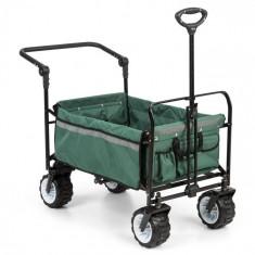 Waldbeck Easy Rider, cărucior de până la 70 kg, telescopic, pliabil, verde