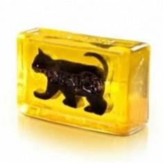Sapun decorativ Pisica neagra si glicerina, Organique, 120 g