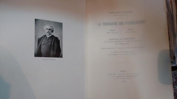 Saint Yves d'Alveydre: Archéomètre: Théogonie des Patriarches Jésus Moïse 1909
