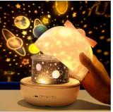 Proiector de noapte 360 °cu lumini de noapte pt  decorarea dormitorului 6 filme, Alb