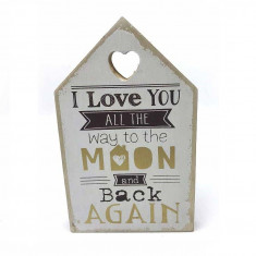 Tablou motivational I Love YOU ALL THE way to the MOON and back AGAIN 11 x 18 cm