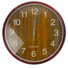 Ceas de perete, maro, diametru 36 cm - CEAS04