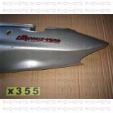 Carena plastic caroserie laterala spate stanga argintie Suzuki Epicuro 125 150cc 2001 - 2005