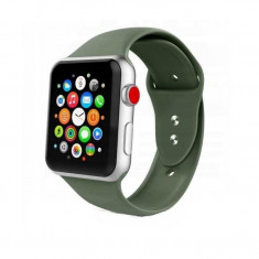 Curea silicon Tech-Protect Smoothband Apple Watch 1/2/3/4/5/6/SE (42/44mm) Army Green