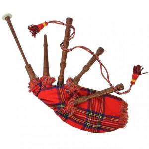 Cimpoi scoțian pentru copii Great Highland tartan, roșu