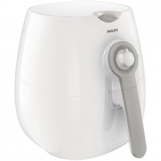 Friteuza fara ulei Philips Airfryer HD9216/80 Daily Collection, capacitate 0.8kg, tehnologie Rapid Air, afisaj Analog, Alb