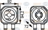 Radiator ulei, ulei motor VW PHAETON (3D) (2002 - 2016) HELLA 8MO 376 778-041