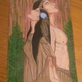 """Pictură """"Nativi americani"""", acrilic A4, Istorice, Altul"""