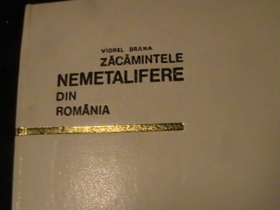 ZACAMINTE NEMETALIFERE DIN ROMANIA-VIOREL BRANA-DEDICATIE SI AUTOGRAF-468 PG/A4 foto