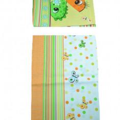 Set lenjerie de pat 2 piese 100 x 135 cm pentru copii IKS 2 SLPSB-18, Multicolor