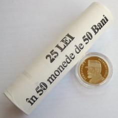 Fisic BNR + moneda proof 50 bani 2019 Regele Ferdinand