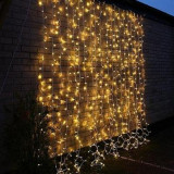 Instalatie luminoasa de tip perdea, 400 beculete, 1x6 m, lumina alba