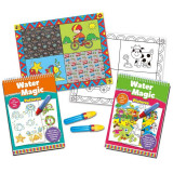 Set carti de colorat Water Magic, 2 carti, 2 stilouri magice, 2 planse