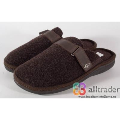 Papuci de casa maro din lana - 191010 foto