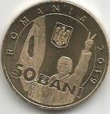 No(4) moneda-ROMANIA- 50 bani 2019- Revolutia romana din decembrie1989`, Cupru (arama)