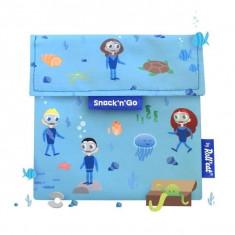 Snack N Go Kids Ocean, Gentuta Reutilizabila Pentru Gustari, Roll'Eat