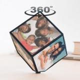 Cub foto rotativ personalizat cu 6 poze 10 x 10 cm, Oem
