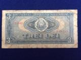 Bancnote România - 3 lei 1966 - seria B0008 358155 - starea care se vede