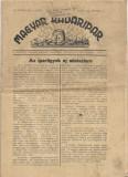Magyar kadaripar aprilie 1944 nr 4 ziar vechi maghiar al doilea razboi mondial