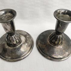 Doua sfesnice argintate - inceput de secol 20