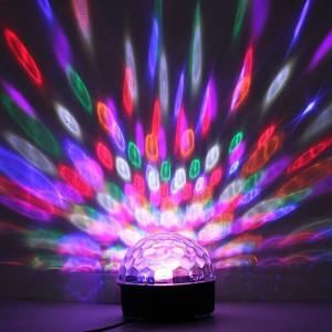 Glob disco cu LED RGB, joc lumini dupa ritmul muzicii, conectare USB, Resigilat