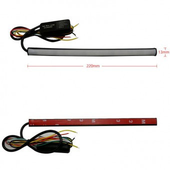 Banda lumina de zi DRL 30cm cu functie de semnalizare dinamica si flash foto