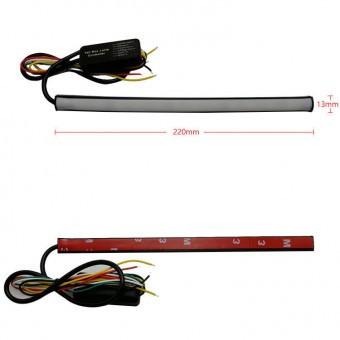 Banda lumina de zi DRL 30cm cu functie de semnalizare dinamica si flash