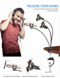 Stand Microfon Pop Filtru Cu Două Suporturi Pt Telefoane Mobile - 311