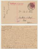 1918 ROMANIA intreg postal cu raspuns MViR partea de expediere circulata la Iasi