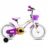 Bicicleta copii Dhs 1602 alb 16 inch