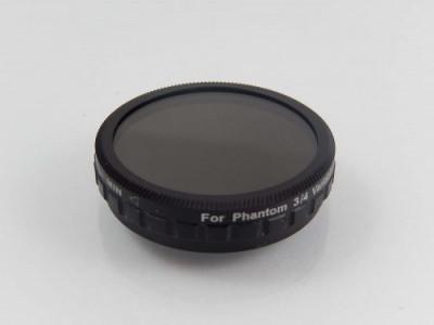 Neutraldichtefilter variabel nd2-nd400 passend pentru dji phantom 3 & 4, , foto