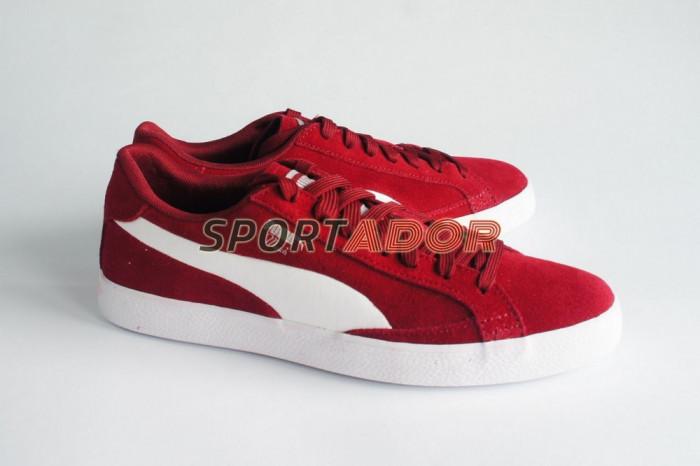 Adidasi Puma Match Vulcanised Suede burgundy 39EU - factura garantie