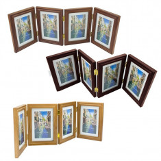 Rama foto multipla Lalili, 10X15 cm, 4 fotografi, lemn