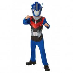 Costum cu masca Optimus Prime Transformers, varsta 3-6 ani, Albastru/Rosu
