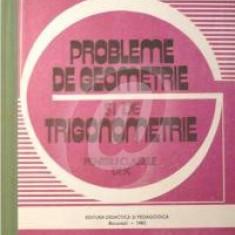 Probleme de geometrie si de trigonometrie pentru clasele IX-X (1983)