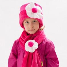 Caciula si fular pentru fetite-PITICOT Ana SC83F