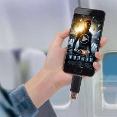 Stick de memorie 2 in 1 pentru PC si telefon cu micro USB 3.0, 256GB, negru, Gonga