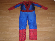 costum carnaval serbare spiderman pentru copii de 11-12 ani foto