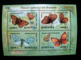 Fluturi endemici, bloc neuzat, MNH, L.P. 1591, 2002