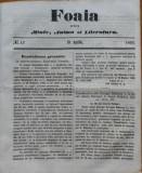 Foaia pentru minte , inima si literatura , nr. 12 , 1863 , Brasov , I. Muresanu