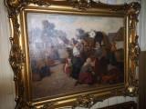 Cumpara ieftin Tablou targ semnat Gyertyani Nemet Gyula, Scene gen, Ulei, Impresionism
