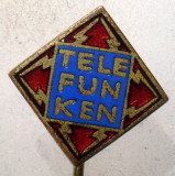I.094 INSIGNA STICKPIN TELEFUNKEN RADIO TV 9/9mm email BADGE