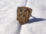 INEL vechi SIGILIU cu veriga din argint VECHI de colectie SPLENDID rar