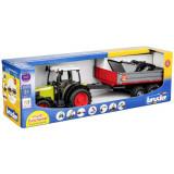 Tractor Claas Nectis 267 F cu remorca basculabila Bruder